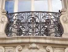 decorative forged iron balcony railing from Mexico