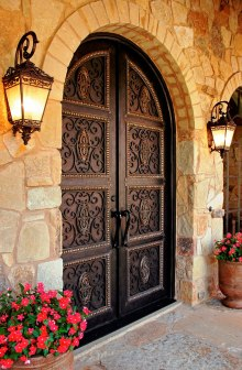 forged iron door decoration ornaments