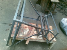 wrought iron copper range hood frame