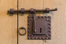 forged iron hardware in hacienda style